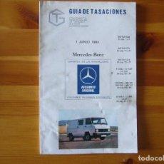 Coches y Motocicletas: GUIA DE TASACIONES 1984 MERCEDES BENZ. Lote 156955510