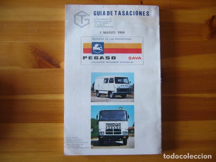 Coches y Motocicletas: GUIA de TASACIONES 1984 PEGASO SAVA 4 1.100 Y MODELOS CAMIONES - Foto 2 - 156956034
