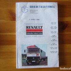Coches y Motocicletas: GUIA DE TASACIONES 1984 RENAULT MODELOS CAMIONES. Lote 156956274