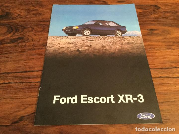 CATÁLOGO FORD ESCORT XR-3 (Coches y Motocicletas Antiguas y Clásicas - Catálogos, Publicidad y Libros de mecánica)