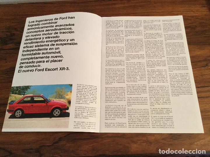 Coches y Motocicletas: CATÁLOGO FORD ESCORT XR-3 - Foto 2 - 156961766