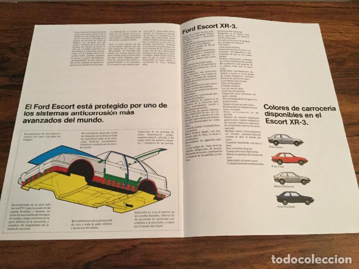 Coches y Motocicletas: CATÁLOGO FORD ESCORT XR-3 - Foto 4 - 156961766