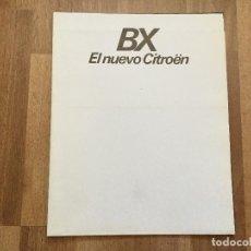 Coches y Motocicletas: CITROEN BX - CATALOGO PUBLICIDAD ORIGINAL - 1983 - ESPAÑOL. Lote 156969022