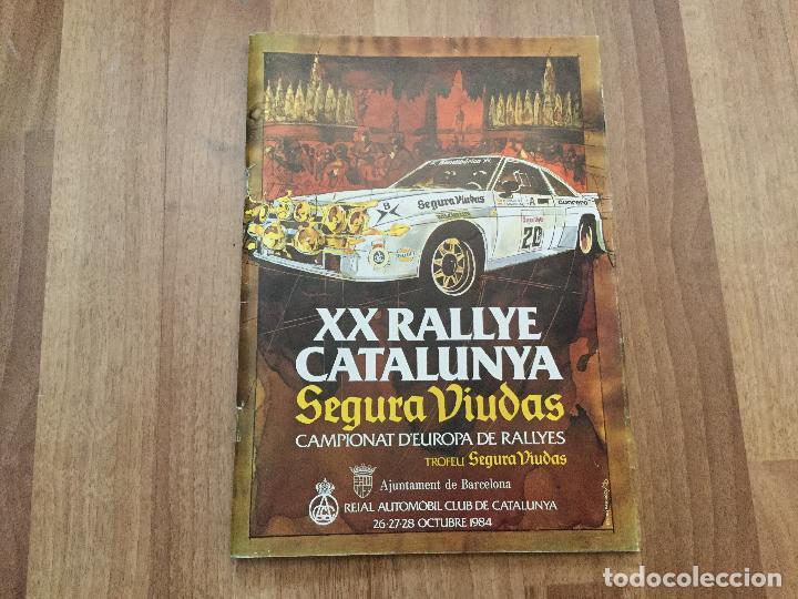 REGLAMENTO XX RALLYE CATALUNYA 1984 CAMPIONAT D´EUROPA DE RALLYES TROFEU SEGURA VIUDAS (Coches y Motocicletas Antiguas y Clásicas - Catálogos, Publicidad y Libros de mecánica)