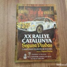 Coches y Motocicletas: REGLAMENTO XX RALLYE CATALUNYA 1984 CAMPIONAT D´EUROPA DE RALLYES TROFEU SEGURA VIUDAS. Lote 156970954