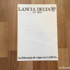 Coches y Motocicletas: CATALOGO COCHE LANCIA DELTA GT 1600. Lote 156973062