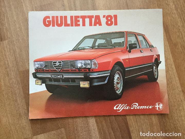 CATALOGO COCHE ALFA ROMEO GIULIETTA 81 (Coches y Motocicletas Antiguas y Clásicas - Catálogos, Publicidad y Libros de mecánica)