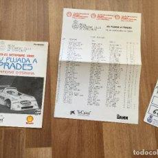 Coches y Motocicletas: PROGRAMA CARRERA RALLYE XV PUJADA A PRADES AÑO 1986 COCHE. Lote 156977622