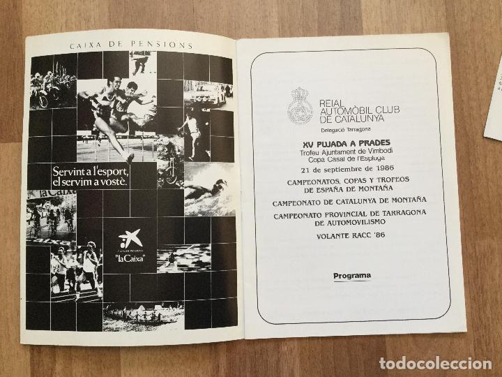 Coches y Motocicletas: PROGRAMA CARRERA RALLYE XV PUJADA A PRADES AÑO 1986 COCHE - Foto 2 - 156977622