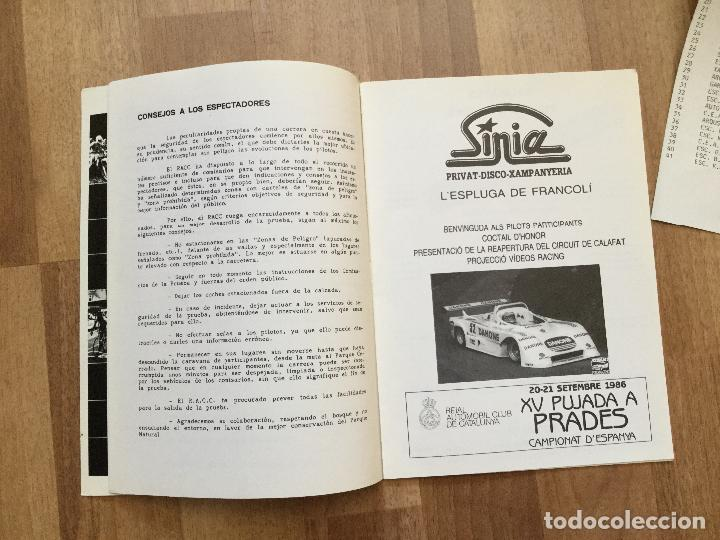 Coches y Motocicletas: PROGRAMA CARRERA RALLYE XV PUJADA A PRADES AÑO 1986 COCHE - Foto 3 - 156977622