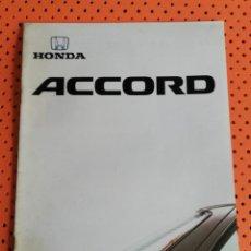 Coches y Motocicletas: HONDA ACCORD. CATÁLOGO EN FRANCÉS, 24 PÁGINAS. Lote 156995058