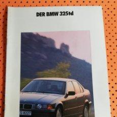 Coches y Motocicletas: BMW 325TD. CATÁLOGO EN ALEMÁN. 30 PÁGINAS. Lote 156995346