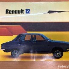 Coches y Motocicletas: CATALOGO RENAULT 12 CONTIENE 12 PAGINAS FASA RENAULT 1976. Lote 157381826