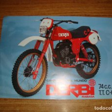 Automobili e Motociclette: FOLLETO DERBI FOLLETO 74 CC C-6. Lote 231948030