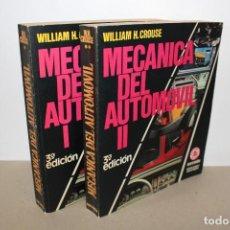 Coches y Motocicletas - MECANICA DEL AUTOMOVIL (2 TOMOS). WILLIAM H. CROUSE - EDITORIAL MARCOMBO 1983 - 157855854