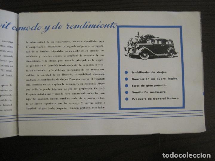 Coches y Motocicletas: VAUXHALL-EL GRAN PEQUEÑO COCHE INGLES-CATALOGO ANTIGUO DE COCHES-GENERAL MOTORS-VER FOTOS-(V-16.242) - Foto 4 - 158146974