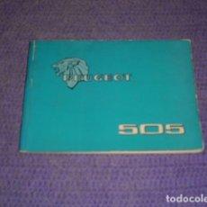 Coches y Motocicletas: MANUAL MANTENIMIENTO PEUGEOT 505 - AÑO 1977. Lote 158448082