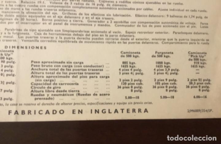 Coches y Motocicletas: Antiguo catálogo camión ford thames - Foto 9 - 158762662