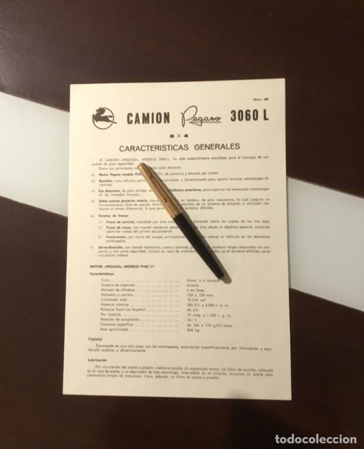 ANTIGUO CATÁLOGO CAMIÓN PEGASO 3060 L (Coches y Motocicletas Antiguas y Clásicas - Catálogos, Publicidad y Libros de mecánica)