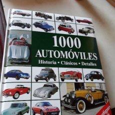 Coches y Motocicletas: 1.000 AUTOMÓVILES. HISTORIA, CLÁSICOS, DETALLES. GRAN FORMATO. MUY ILUSTRADO.. Lote 158960386