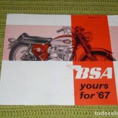 Coches y Motocicletas: CATÁLOGO B S A - YOURS 67. Lote 159138642