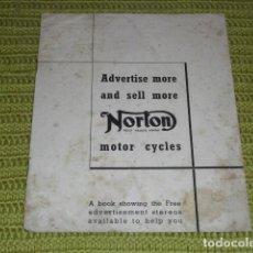 Coches y Motocicletas: CATÁLOGO NORTON MOTOR CYCLES - ORIGINAL AÑOS 30 -. Lote 159140390