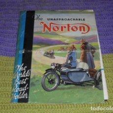 Coches y Motocicletas: CATÁLOGO ORIGINAL NORTON - AÑO 1934 -. Lote 159679698