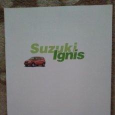 Coches y Motocicletas: CATÁLOGO SUZUKI IGNIS. Lote 159682197