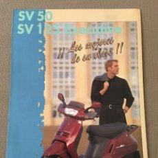 Coches y Motocicletas: FOLLETO MOTO PEUGEOT SV 50 SV 125 EXECUTIVE. Lote 159762050