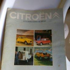 Coches y Motocicletas - CATALOGO CITROEN. 2CV DYANE 6 DYANE 6 FURGONETA- MEHARI - 159832401