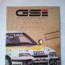 Coches y Motocicletas: OPEL SPORT KADETT GSI /GRUPO A -CATALOGO 1987-44 PAG-ESPAÑOL-ITALIANO -RARO -ORIGINAL. Lote 159854858