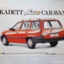 Coches y Motocicletas: OPEL KADETT FUN CARAVAN -FOLLETO 1991 - 2 PAG-ORIGINAL- ESPAÑOL. Lote 159855950