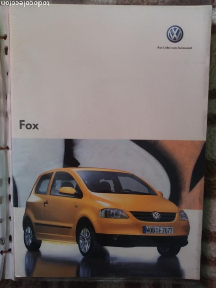 CATÁLOGO VOLKSWAGEN FOX (Coches y Motocicletas Antiguas y Clásicas - Catálogos, Publicidad y Libros de mecánica)