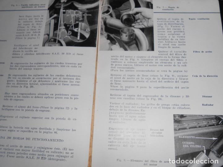 Coches y Motocicletas: Antiguo Manual de Instrucciones Original del Super Tractor EBRO Motor Iberica S.A. 2ª Edic. de 1963. - Foto 3 - 160088090