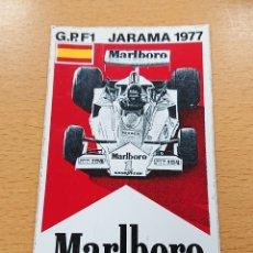 Coches y Motocicletas - Pegatina GP F1 Jarama 1977 team McLaren Marlboro adhesivo nunca pegado - 160309248