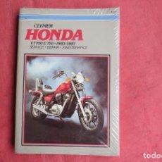 Coches y Motocicletas: HONDA VT700 750 - 1983 1987 - MANUAL REPARACIONES Y MANTENIMIENTO - CLYMER PUBLICATION. Lote 160686878