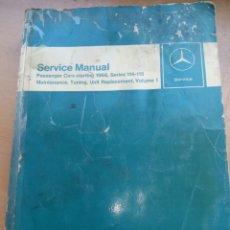 Coches y Motocicletas: MANUAL DE TALLER MERCEDES BENZ CLASICO. Lote 161019324