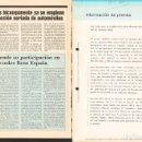 Coches y Motocicletas: PEGASO ENASA COLABORACIÓN MERCEDES-BENZ COMUNICADO PRENSA MB 1989. Lote 161127362