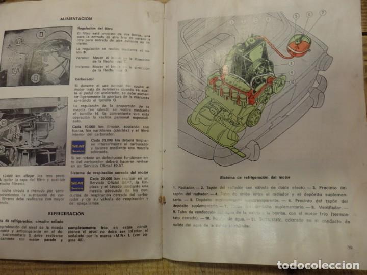 Coches y Motocicletas: Seat 850 D, manual uso y entretenimiento, 1ª edición, 56 páginas, original año 1972. - Foto 3 - 161280650