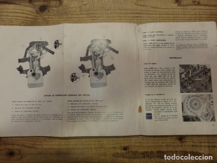 Coches y Motocicletas: Seat 850 D, manual uso y entretenimiento, 1ª edición, 56 páginas, original año 1972. - Foto 4 - 161280650