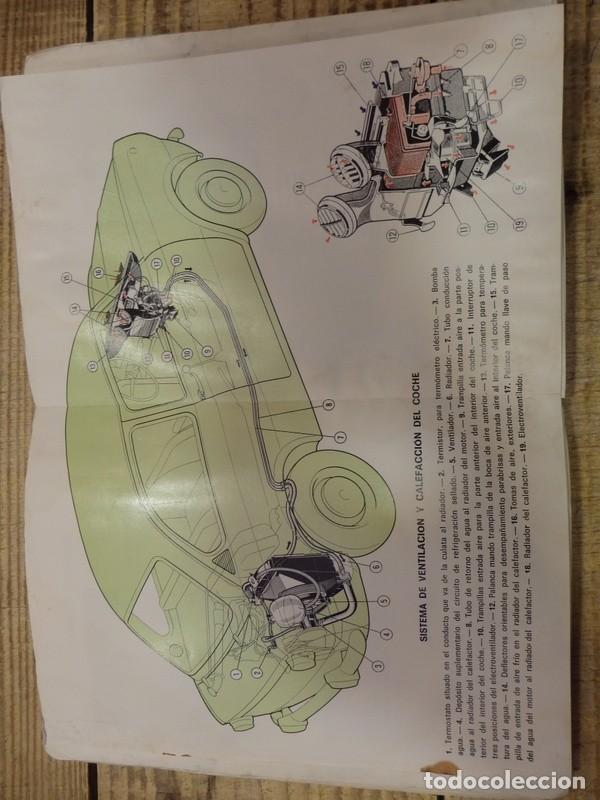 Coches y Motocicletas: Seat 850 D, manual uso y entretenimiento, 1ª edición, 56 páginas, original año 1972. - Foto 5 - 161280650