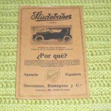 Coches y Motocicletas: FOLLETO PUBLICITARIO AUTOMOVIL STUDEBAKER - 1929 -. Lote 161385898