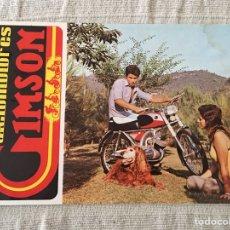 Coches y Motocicletas: FOLLETO MOTO CICLOMOTORES GIMSON POLARIS / TT CANIGO. Lote 161386340