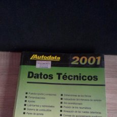 Coches y Motocicletas: AUTODATA 2001 - DATOS TECNICOS ( DE 1992 A 2001 ). Lote 161509338