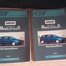 Coches y Motocicletas: MANUAL DE TALLER 2 TOMOS FIAT BRAVO / BRAVA (GUIA DE TASACIONES) ENERO 1998. Lote 161553562