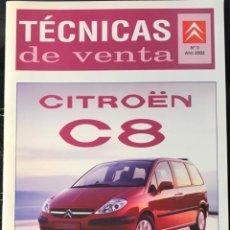 Coches y Motocicletas: CATALOGO DE TECNICAS DE VENTA INTERNO CITROEN C8 09-2002 ARGUMENTARIO PARA LA RED DE CONCESIONARIOS. Lote 161681466