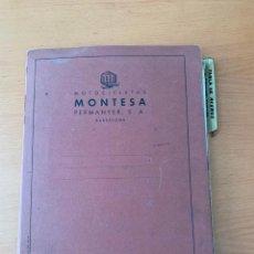 Coches y Motocicletas: MONTESA CARPETA ORIGINAL 1956 USO INTERNO FABRICA. Lote 161745894