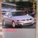 Coches y Motocicletas: CATÁLOGO SEAT TOLEDO (MÁS 2 SUBCATÁLOGOS). Lote 161767369