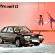 Coches y Motocicletas: CATÁLOGO PUBLICIDAD RENAULT 11 GTC GTX GTL TXE TURBO GTD AÑO 1985 EN CASTELLANO. Lote 162371846