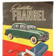 Coches y Motocicletas: CATÁLOGO DE ESCOBILLAS FRANGEL. SEAT 1400 Y MÁS MODELOS. MADRID AÑOS 50. Lote 162373458